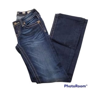 Miss Me low rise bootcut faded dark wash size 26